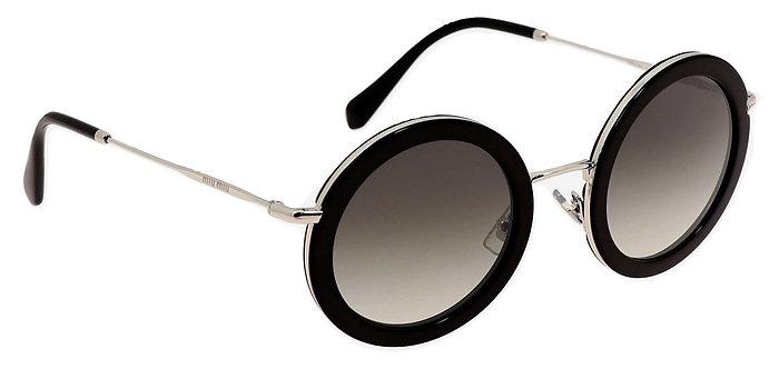 Authentic Miu Miu women's black sunglasses SMU 59U 1AM-5O0 140 2N