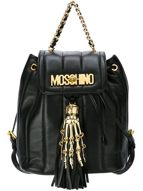 Authentic Moschino Skeleton hand leather backpack