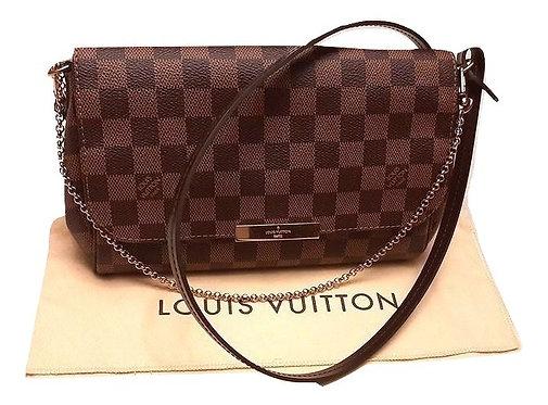 Authentic louis vuitton Favorite Mm Damier Ebene Cross Body Bag