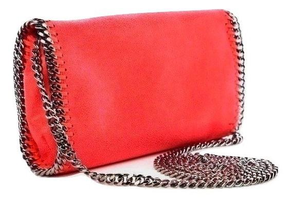 Authentic Stella McCartney Falabella Mini red cross body Bag