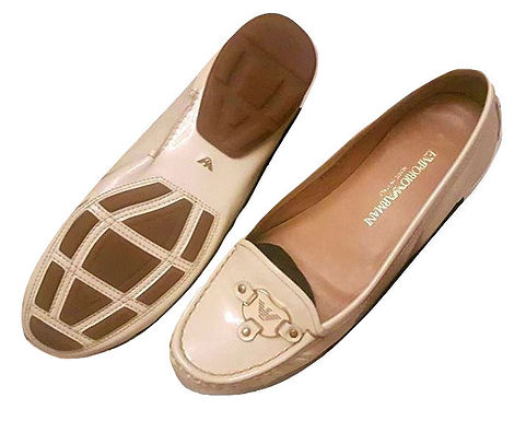 authentic emporio armany women loafer size 38 original price 380$