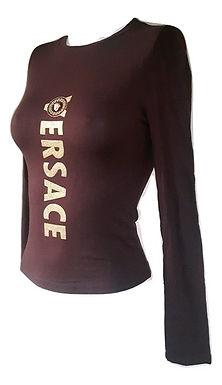 Authentic 90's versace women cotton stretch T-Shirt SZ Small