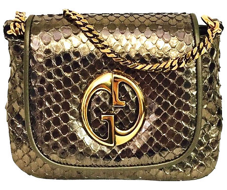 Authentic Gucci Cross body Python Bag