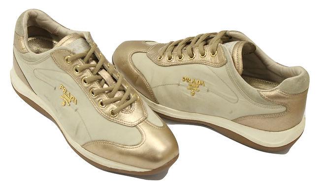 Authentic women's shoes gold sz 36.5