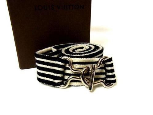 Authentic Vintage Louis Vuitton Belt Stretch rubber Belt V413-14