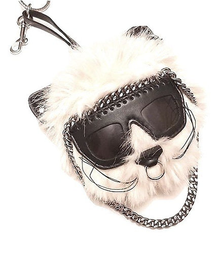 Authentic Stella McCartney Ivory Faux fur Cat Bag charm