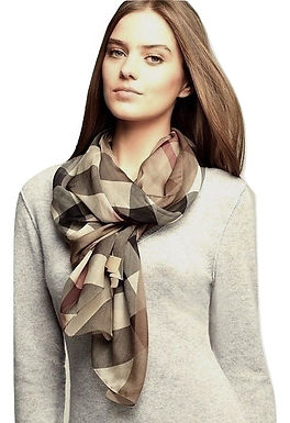 Authentic Burberry pure silk scarf wrap