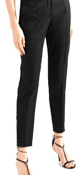 Authentic Stella Mccartney Black Wool Ankle Zip Pant SZ 44IT