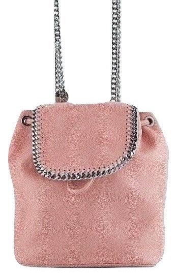 Authentic Stella Mccartney Falabella Shaggy Deer Mini pink Backpack