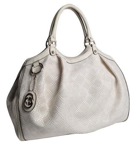 Authentic Gucci White Large Sukey Bag