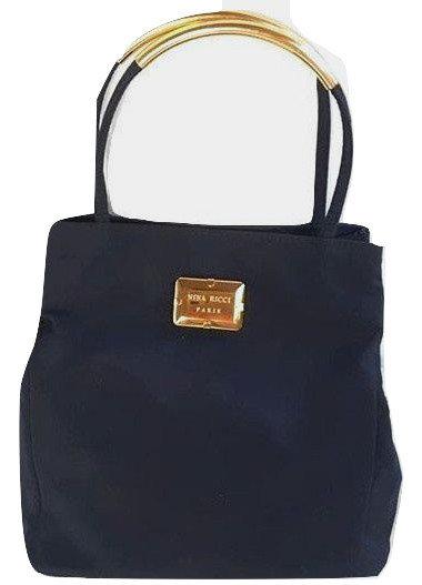 Authentic nina ricci dark blue satin evening small bag