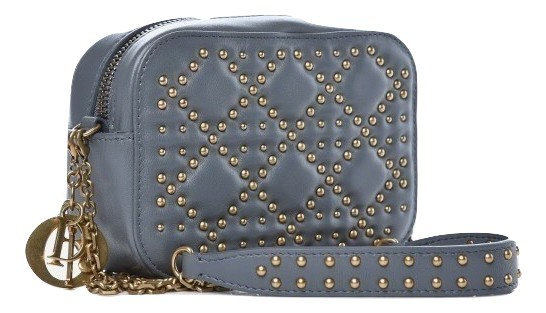Authentic Lady Dior Camera Case Studded Cannage Lambskin