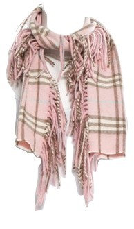 Authentic Burberry Light Pink Novacheck 100% Cashmere scarf