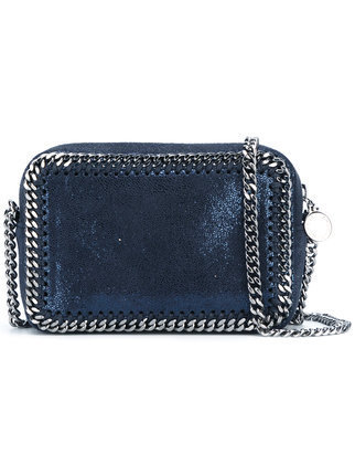 Authentic Stella McCartney faux-leather blues Crossbody Bag