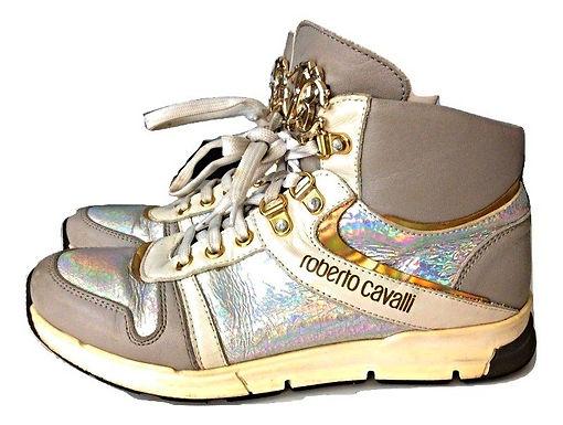 Authentic Roberto Cavalli Girls Hi Top Boots, Uk 4 Eu37, Shoes, Sneakers