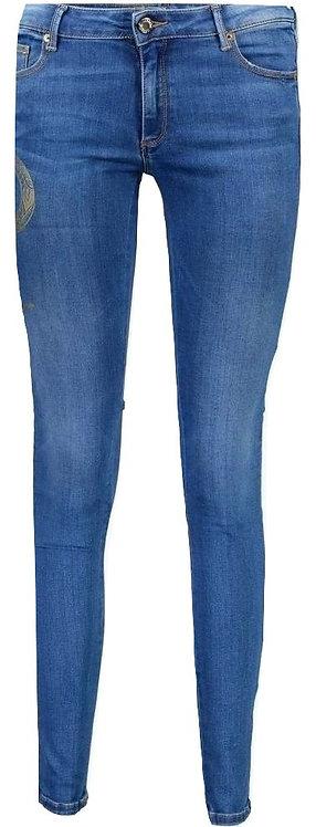 Authentic roberto cavalli women's skinny stretch blue jeans 42IT