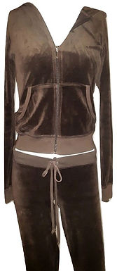 Authentic Juicy Couture Hoodie brown Made in USA/SZ M