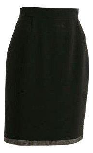 Authentic Elie Tahari Black Crepe Pencil Skirt SZ10/M
