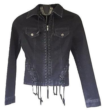 Authentic Pierre Cardin women's black jeans jacket 34/S