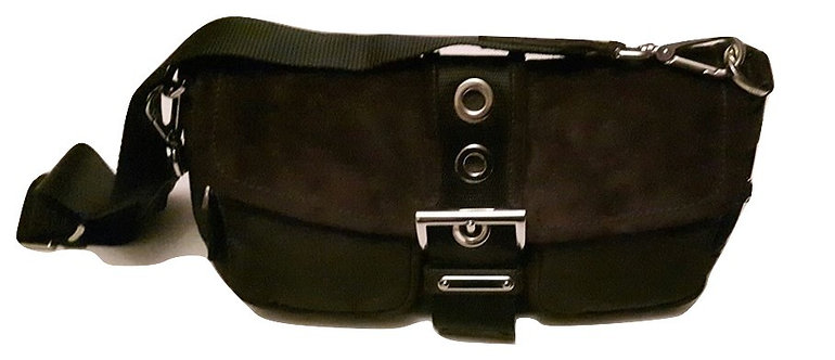 Authentic Prada Brown Tessuto suede/nylon Messenger Bag
