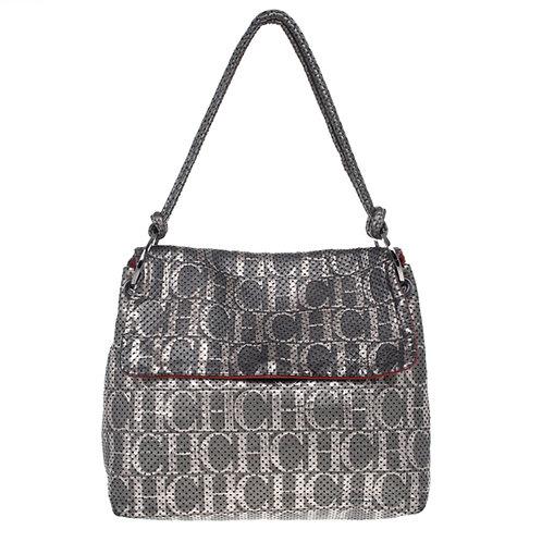 Authentic Carolina Herrera Perforated Flap Shoulder Bag original price 790$