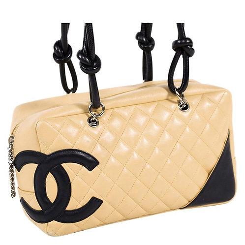 Authentic Chanel Cambon Leather Handbag
