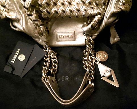 authentic Versace Gold Satchel with original price 2200$