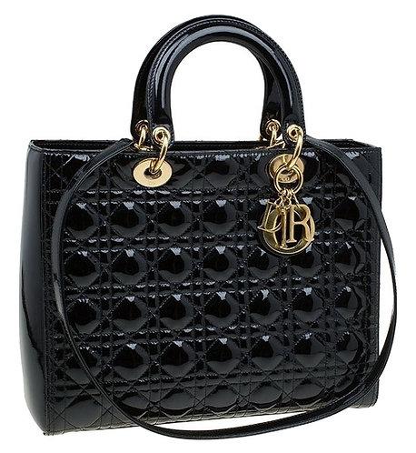 Authentic Lady Dior Black Large bag