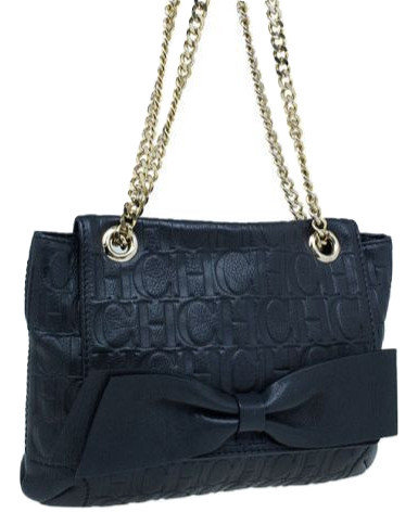Authentic Carolina Herrera dark blue bag