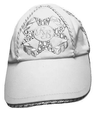 Authentic Roccobarrocco women white cap SZ M-L