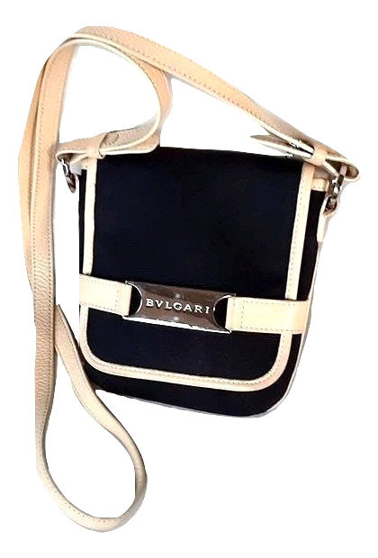 Authentic bvlgari black mini cross body bag