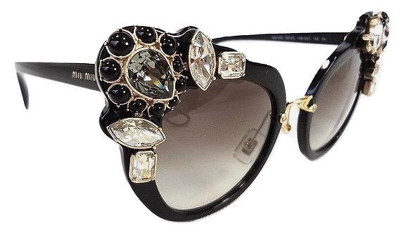 Authentic MIU MIU Women's Black Sunglasses MU04SS 1AB0A7 145