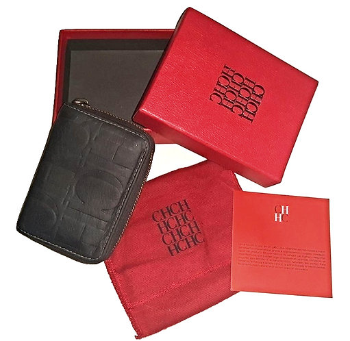 Authentic carolina herrera mini coin and cards wallet size small