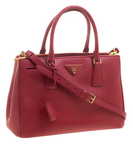 Authentic Prada Red Saffiano Lux Leather bag