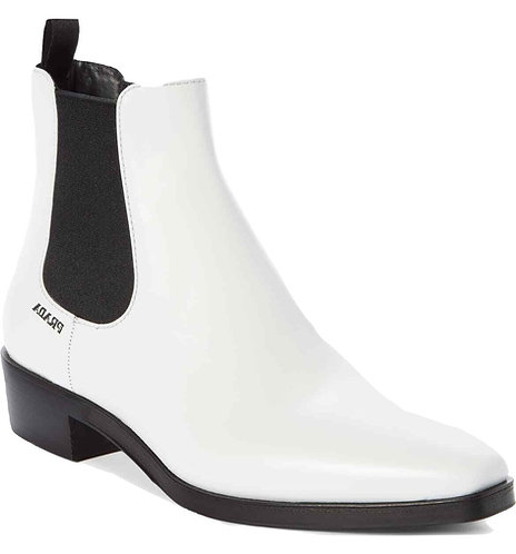 Authentic prada White Leather 30 Pointy Toe Ankle Boot SZ 37 US