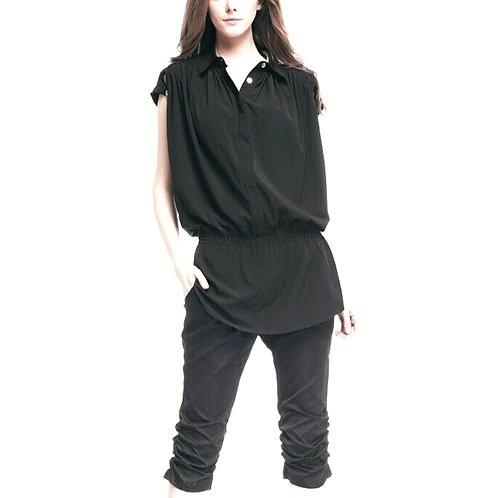 Authentic burberry black Silk blouse sz 40/ S