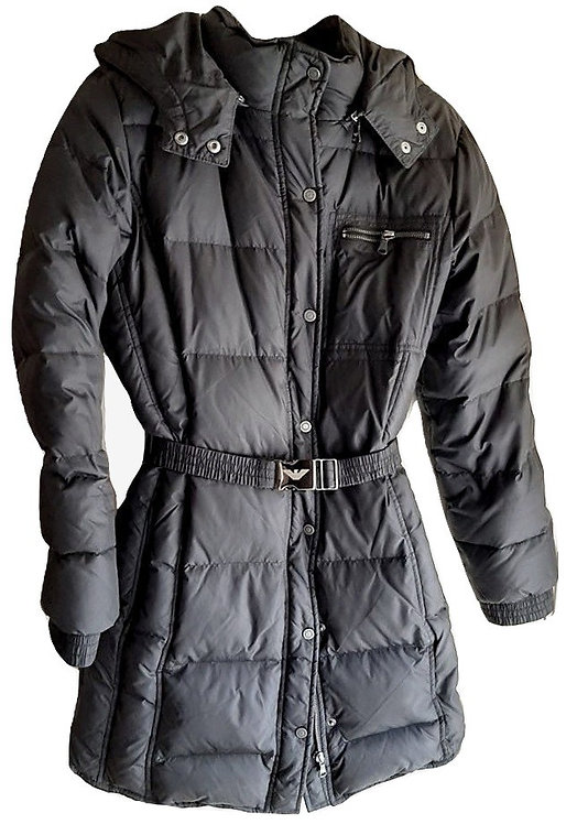 Authentic Armani women Quilted hood jacket coat SZ 16A/178CM