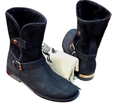 Authentic Burberry women's Garton Black Ankle Boots SZ/37 $895
