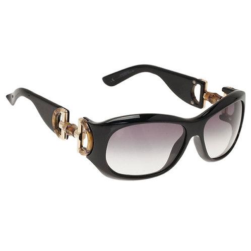 Authentic Gucci Black Bamboo Horsebit Sunglasses