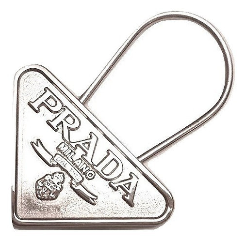 of Authentic Prada silver KeyChain Ring or bag charm