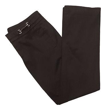 Authentic Gucci Black Cotton Bamboo Waist Detail Pants M