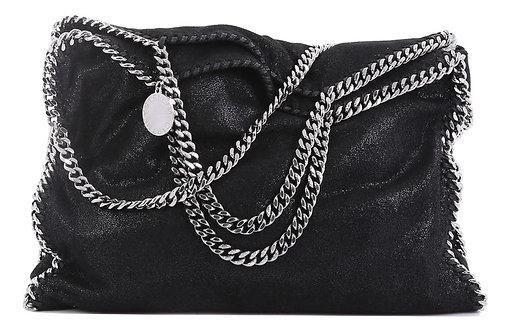 Authentic Stella McCartney Authentic Black Falabella Shoulder fold over bag.