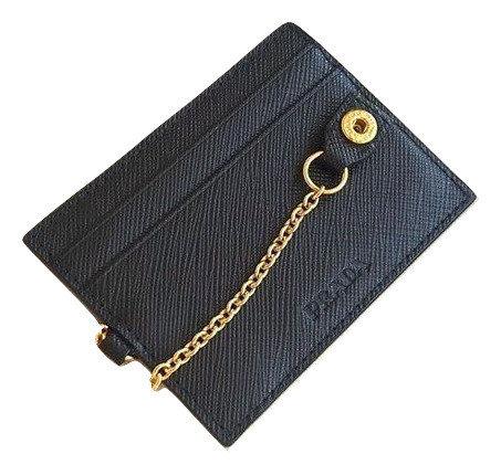 Authentic prada women black card holder
