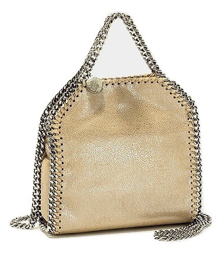 Authentic Stella McCartney Gold Faux Leather Cross Body Bag