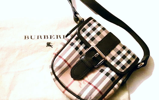 Authentic burberry Haymarket Check Cross Body Bag