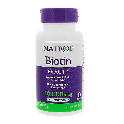 Biotina Beauty 10,000mcg  - 100 Tabletes - ÚLTIMAS UNIDADES