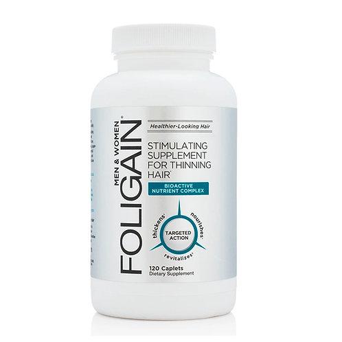 FOLIGAIN Suplemento estimulante p/ cabelos finos 120caps - 60 dias de tratamento