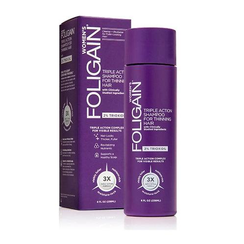 FOLIGAIN Shampoo Tripla Ação, para Mulheres com 2% de Trioxidil 236ml