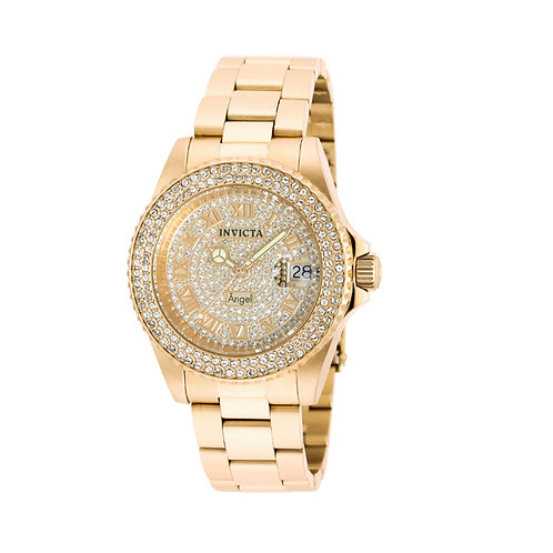 Relógio Invicta Angel 90255 Feminino Swiss Banhado Ouro 18K - (ÚLTIMAS UNIDADES)