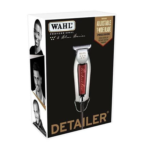 Máquina de Corte Bivolt DETAILER - Prata//Vermelha WAHL (ÚLTIMAS UNIDADES)